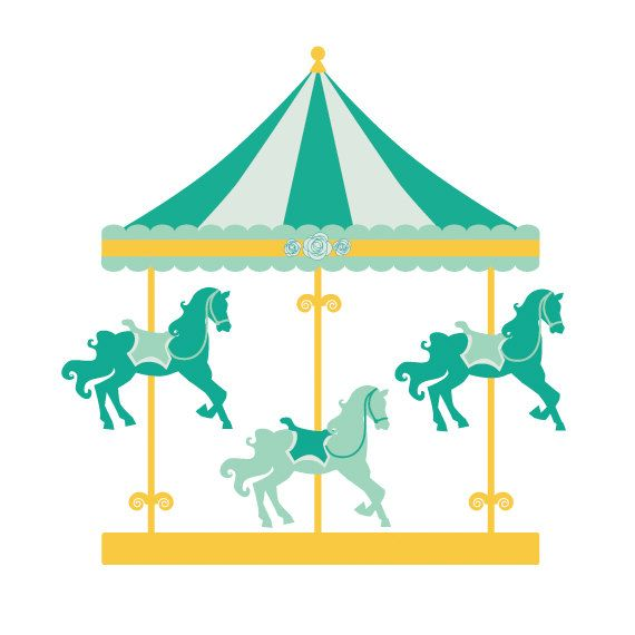 Carrousel clipart svg transparent library Carousel clipart - merry go round clip art, carnival clip art, fair ... svg transparent library