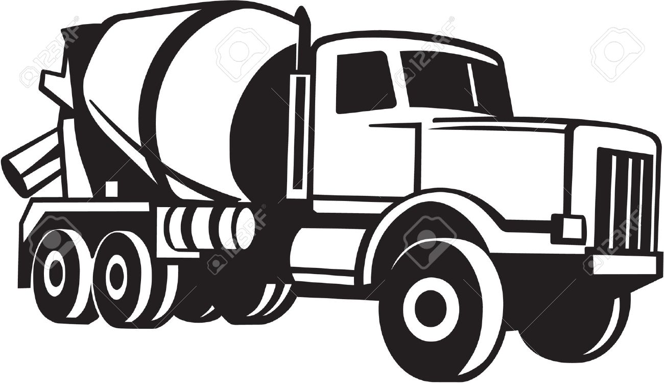 Clipart cement mixer black and white svg stock 25+ Concrete Clipart | ClipartLook svg stock