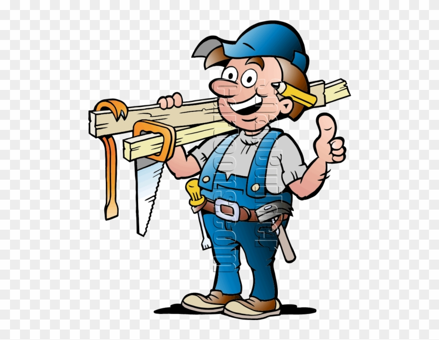 Carpentry images clipart png library download Handyman With Carpentry Tools - Cartoon Picture Of A Carpenter ... png library download