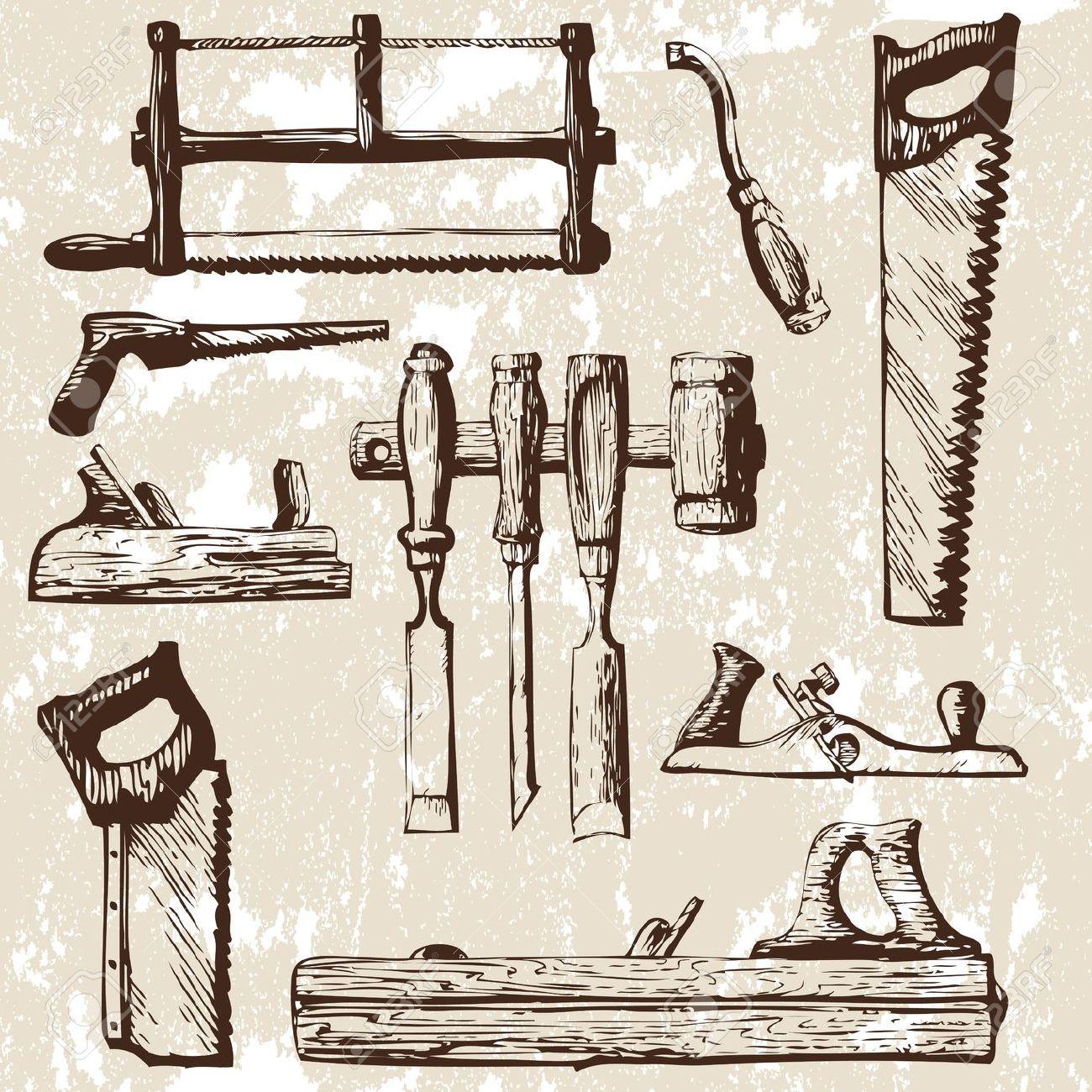 Carpinteria clipart clipart royalty free Conjunto de herramientas de carpintería. Ilustracionón vectorial ... clipart royalty free