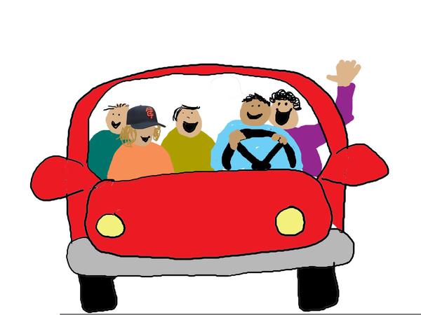 Carpooling clipart png stock Clipart Carpool   Free Images at Clker.com - vector clip art online ... png stock