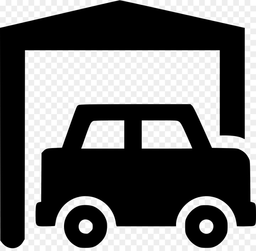 Carport clipart vector black and white download Car Cartoon png download - 980*948 - Free Transparent Garage png ... vector black and white download