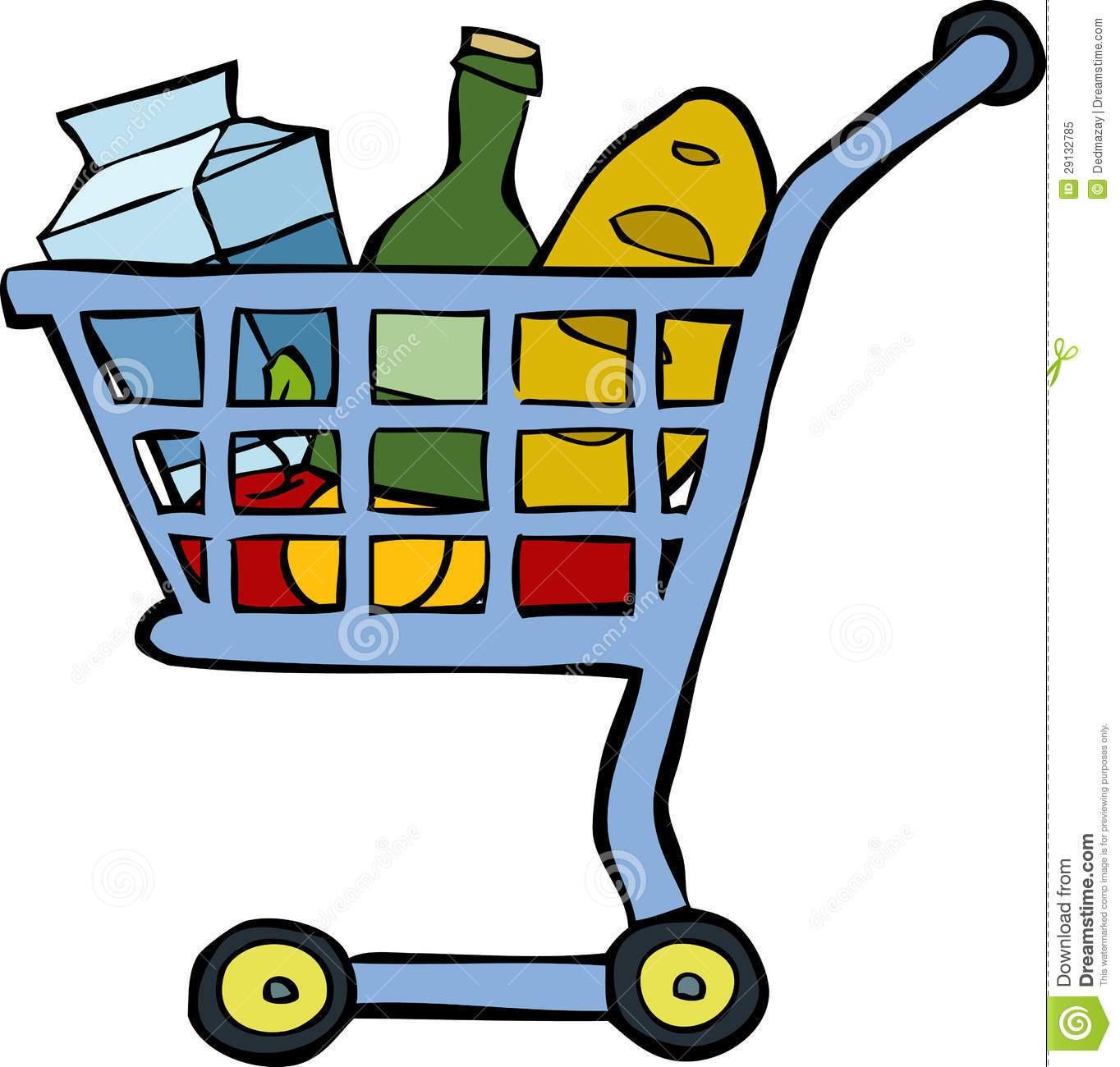 Carrinho de supermercado clipart black and white Carrinho de compras clipart » Clipart Portal black and white