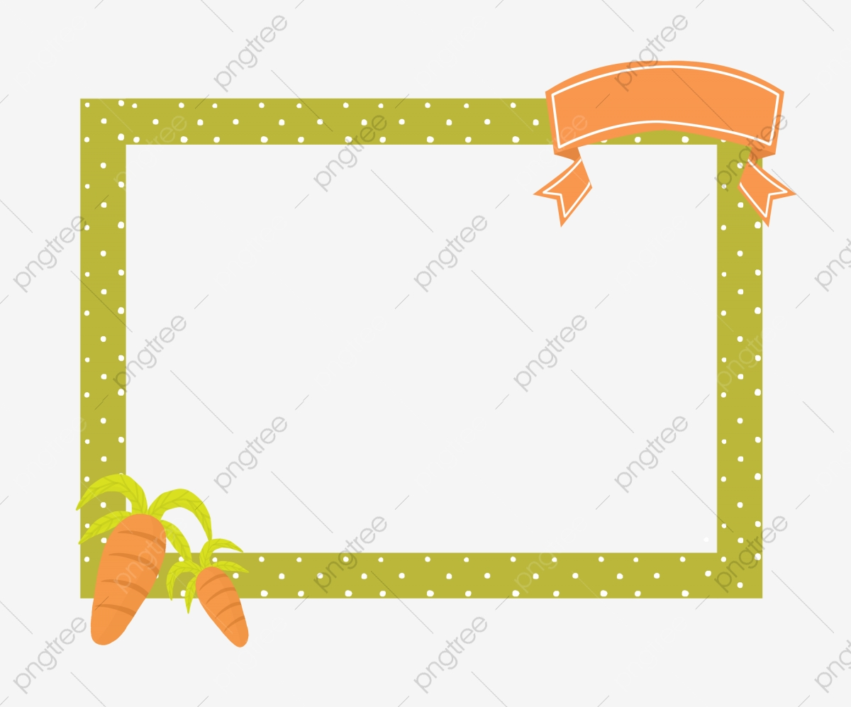 Carrot clipart border vector free download Rectangular Border Hand Painted Frame Hand Painted Border, Ribbon ... vector free download