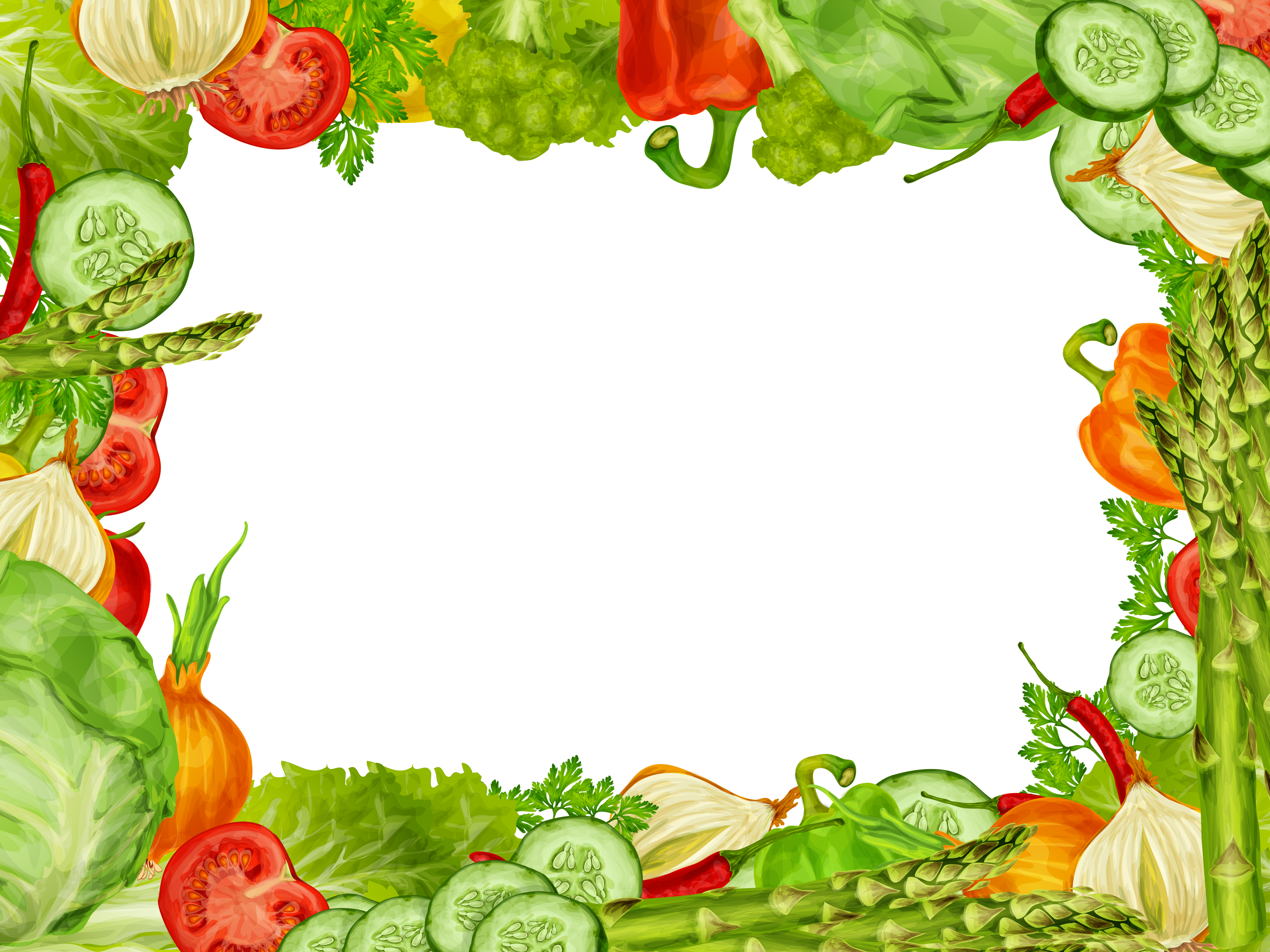 Carrot clipart border vector freeuse download Vegetable Border Free Vector Art - (737 Free Downloads) vector freeuse download
