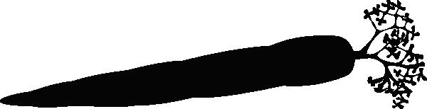 Carrot Silhouette Clip Art at Clker.com - vector clip art online ... jpg freeuse