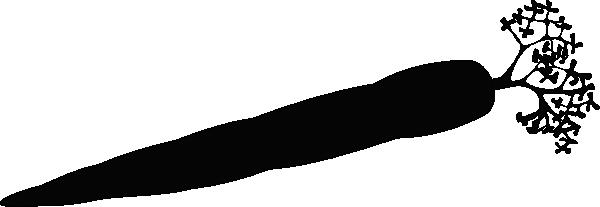 Carrot Silhouette Clip Art at Clker.com - vector clip art online ... svg