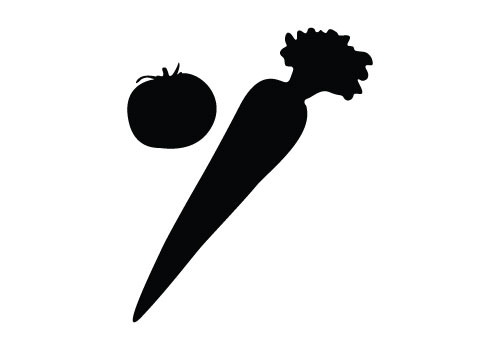 Vegetables Vector Graphics Free Vegetable Silhouette Vector svg free