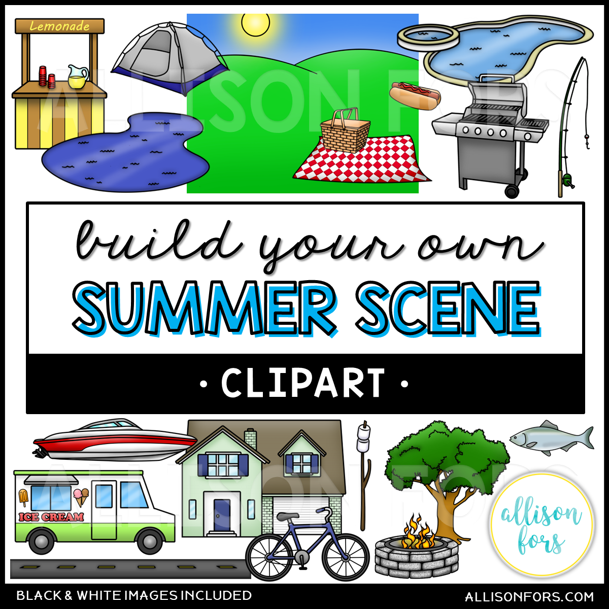 Carryover clipart graphic transparent library Build Your Own: Summer Scene Clip Art graphic transparent library
