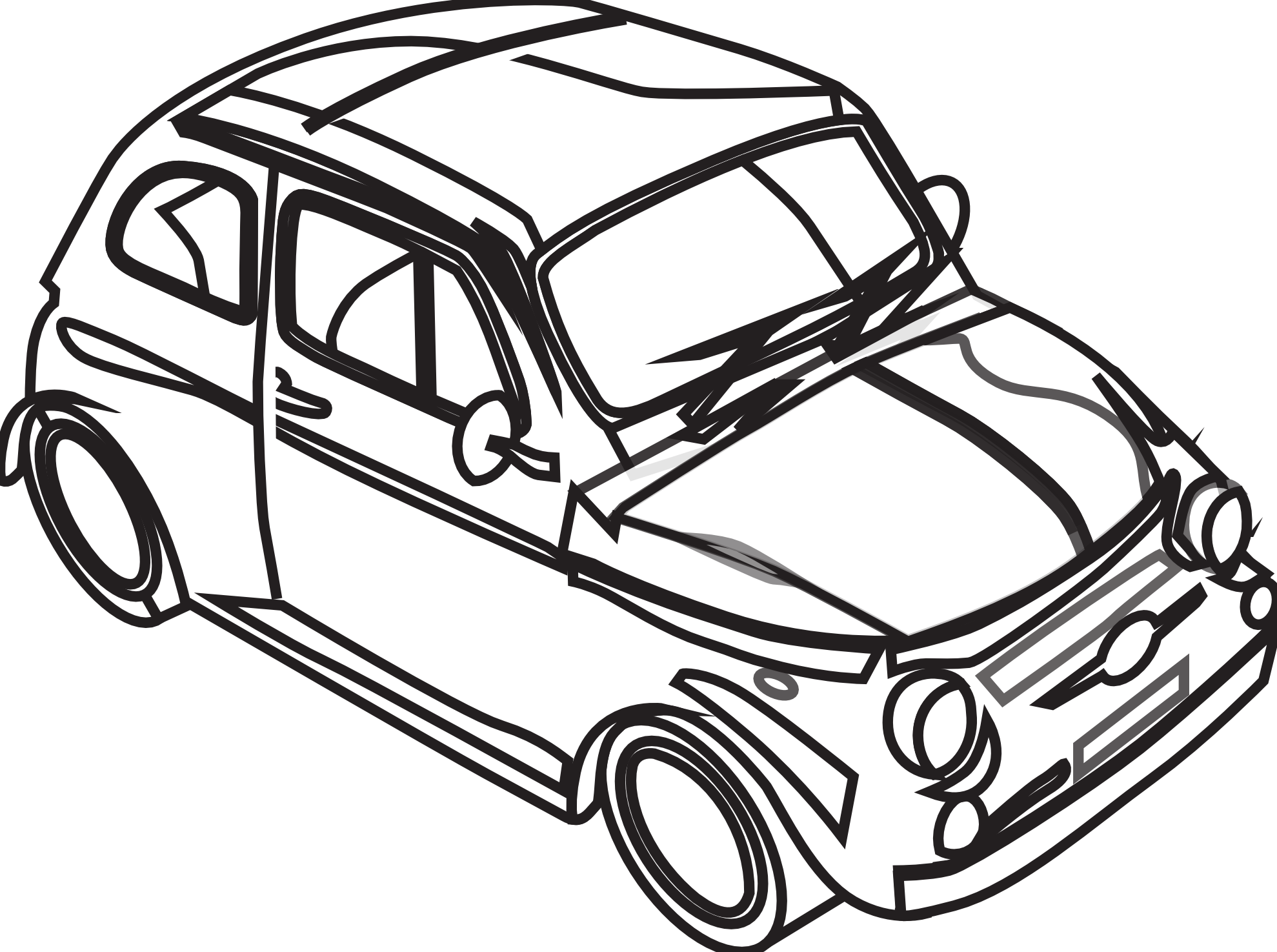 Cars b&w clipart vector freeuse library Free Black And White Car Drawings, Download Free Clip Art, Free Clip ... vector freeuse library