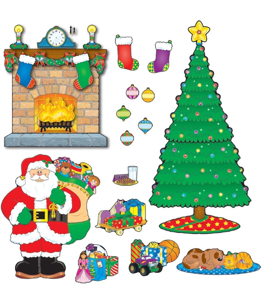 Christmas Scene Bulletin Board Set image free
