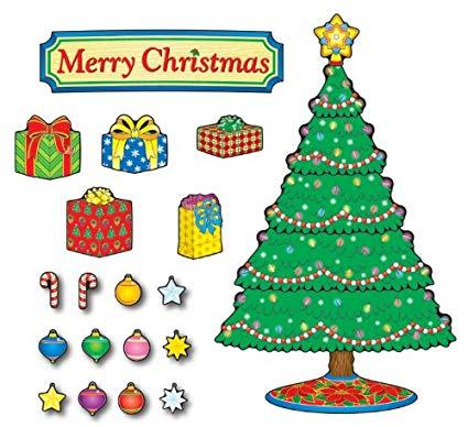 Carson Dellosa Christmas Tree Bulletin Board Set (110055) clip free