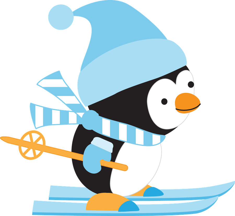 Winter wonderland penguin polar bear snowflake clipart free jpg black and white Minus - Say Hello! | Clip Art | Pinterest | Penguins, Clip art and ... jpg black and white