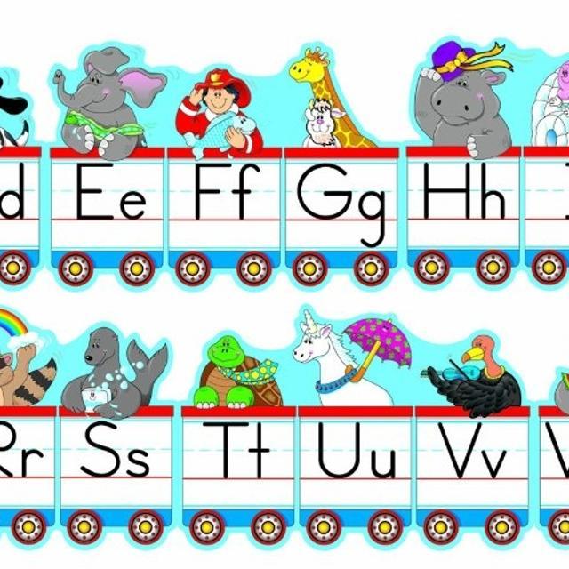 Carson dellosa train clipart banner royalty free download Carson Dellosa Alphabet Train Bulletin Board Set banner royalty free download