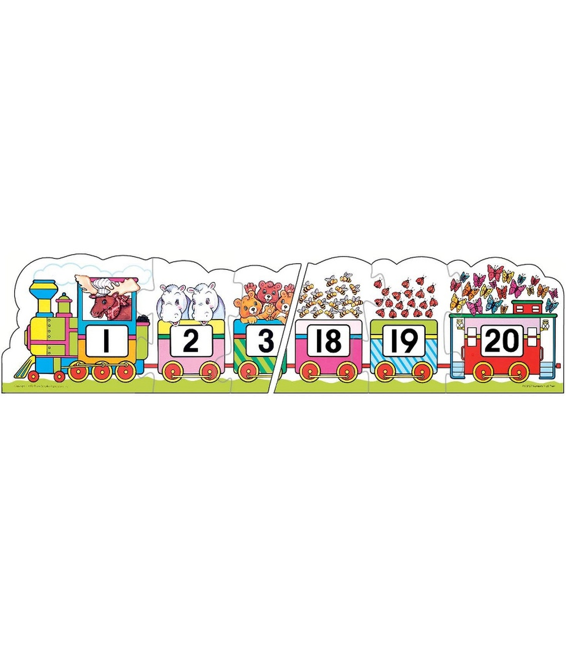 Carson dellosa train clipart clipart transparent stock Number Train Floor Puzzle Grade Preschool-K clipart transparent stock