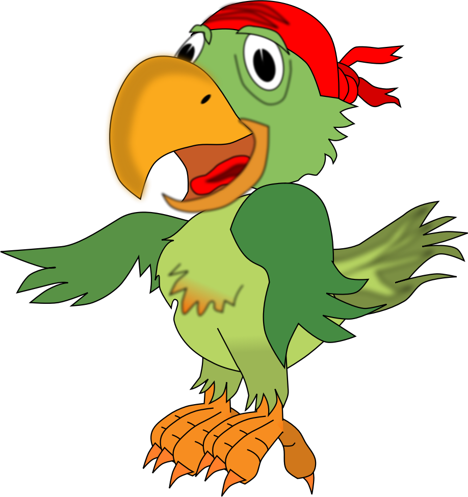 Cute halloween pirate clipart. Parrot free clip art