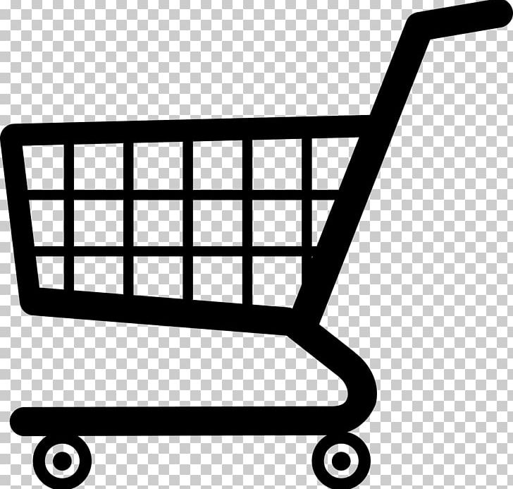 Cart clipart black and white graphic library library Shopping Cart Supermarket PNG, Clipart, Area, Black, Black And White ... graphic library library