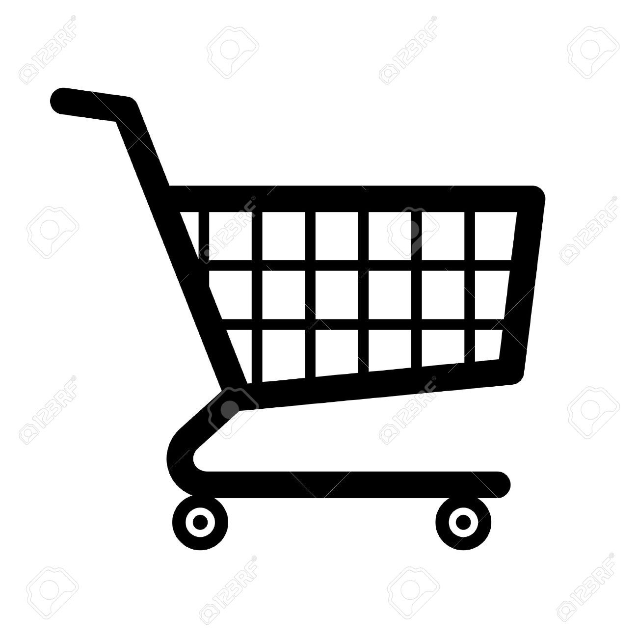 Cart clipart black and white png black and white Shopping cart clipart black and white » Clipart Portal png black and white