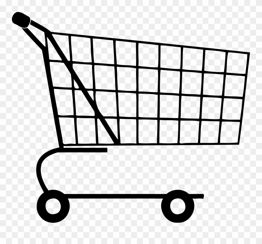 Big Image - Shopping Cart Clipart Black And White - Png Download ... clip freeuse