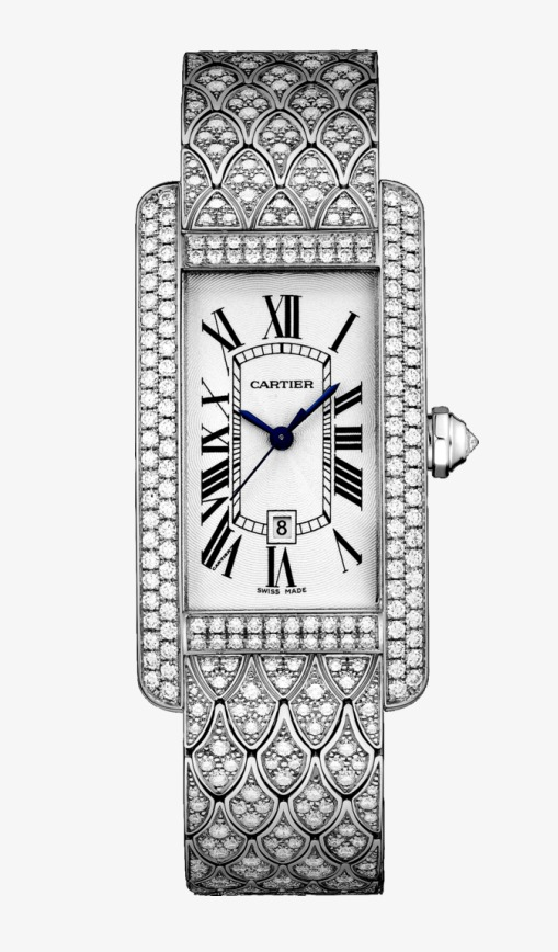 Silver Cartier Watch Watches Female Form, Product Kind, Cartier ... clip art black and white stock