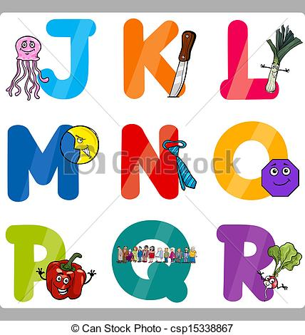 Cartoon alphabet letters clip art transparent download Clip Art Vector of Education Cartoon Alphabet Letters for Kids ... transparent download