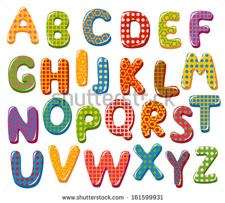 Cartoon alphabet letters clip art svg black and white library Motley Colorful Vector Cartoon Font Letter Stock Vector 78821284 ... svg black and white library
