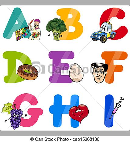 Cartoon alphabet letters clip art vector free Cartoon letters clip art - ClipartFest vector free