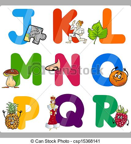 Cartoon alphabet letters clip art clip library EPS Vector of Education Cartoon Alphabet Letters for Kids ... clip library