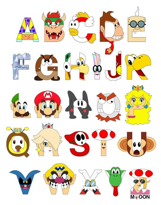 Cartoon alphabet letters clip art jpg black and white library 17 Best images about Alphabet letters in items on Pinterest ... jpg black and white library
