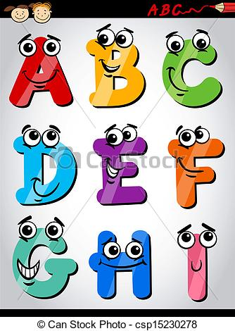 Cartoon alphabet letters clip art image library stock Vectors Illustration of funny letters alphabet cartoon ... image library stock