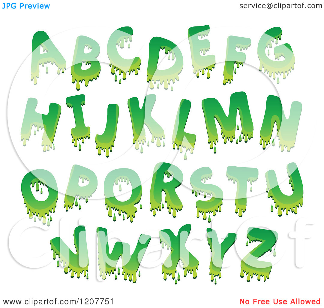 Cartoon alphabet letters clip art image stock Cartoon of a Green Goo Alphabet Letters - Royalty Free Vector ... image stock