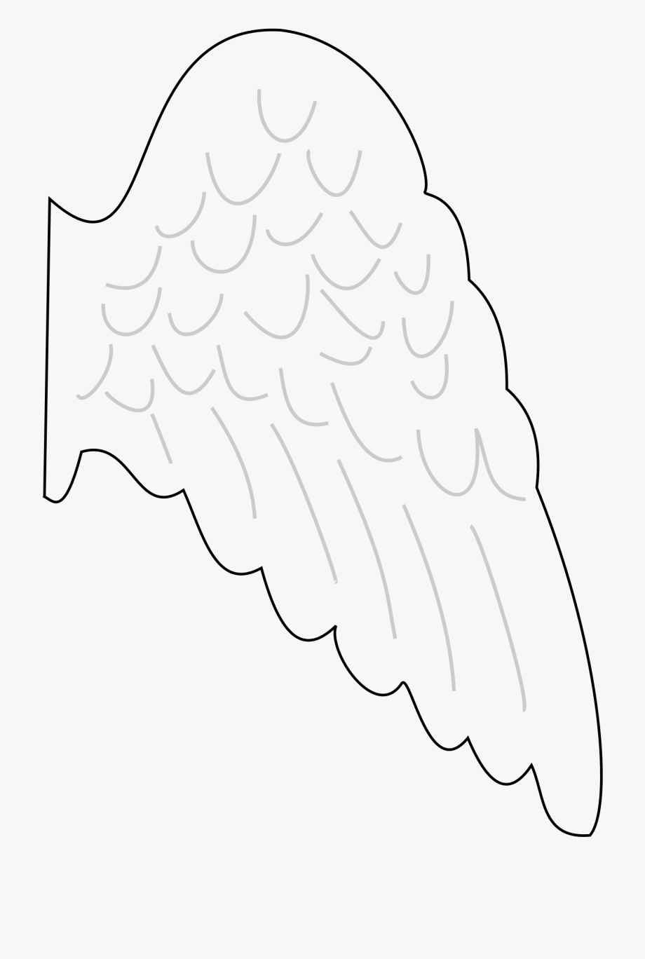 Angel Wing Clipart - Angel Wing Template Printable Free #1973800 ... banner transparent stock