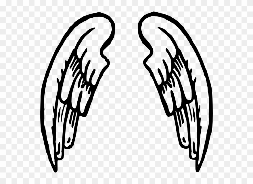 Angel Wings Tattoo Clip Art At Clker - Angel Wings Cartoon - Png ... black and white stock