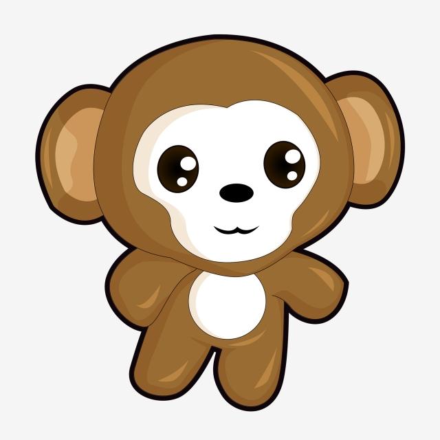 Cute Cartoon Monkey Commercial Material Monkey,cartoon,animal ... library