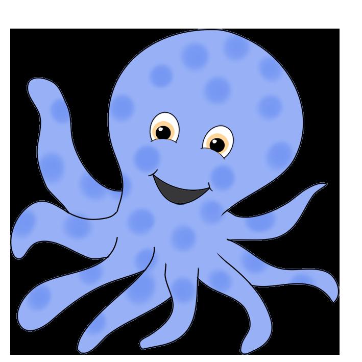 Cartoon octopus clipart banner transparent Octopus Clipart banner transparent