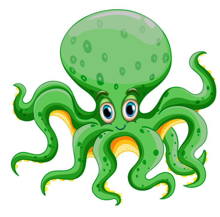 Cartoon animals clipart octopus graphic freeuse stock Marine Animals Clipart | Free download best Marine Animals Clipart ... graphic freeuse stock