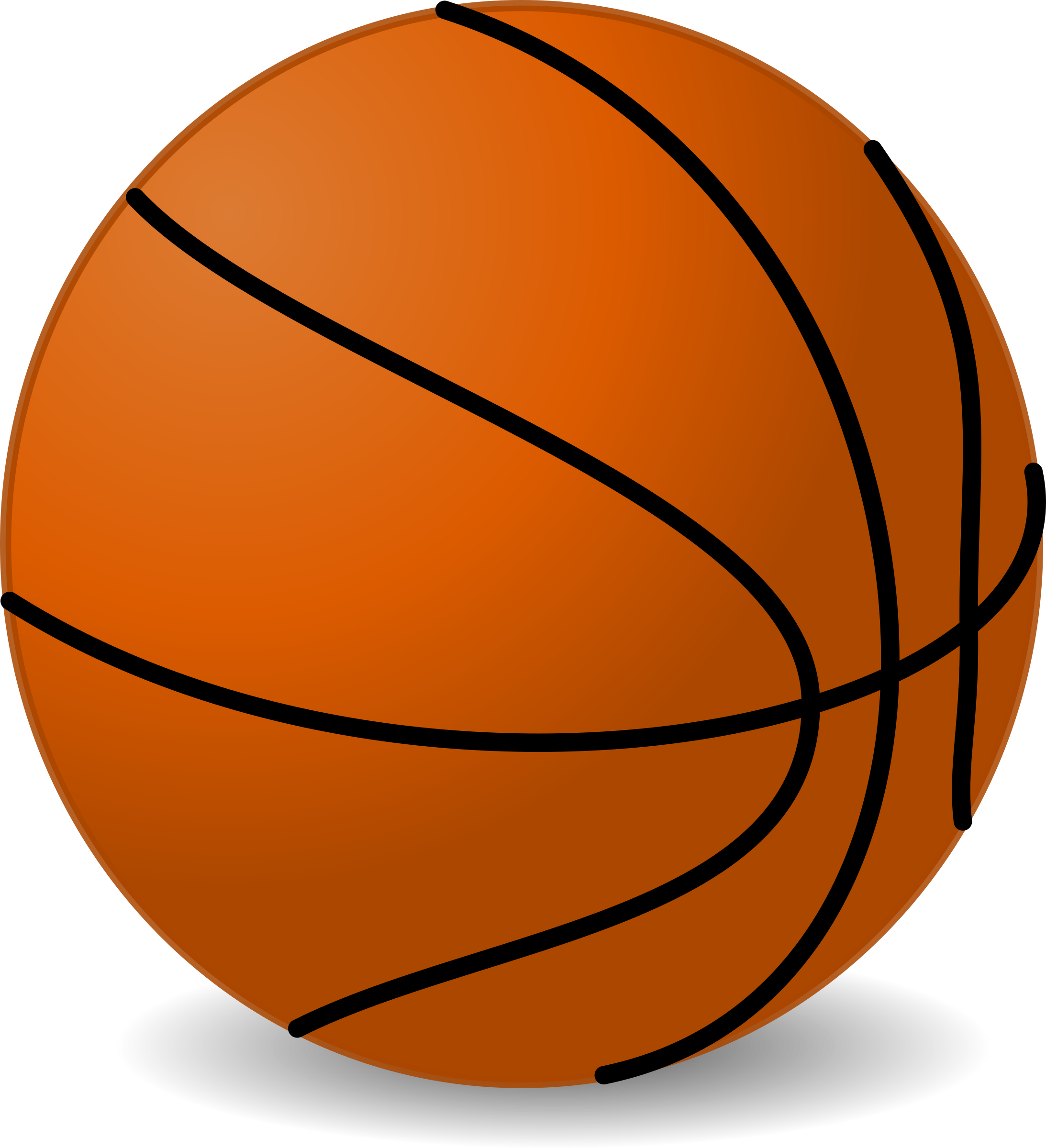 Cartoon basketball clipart picture free download Clipart - basketball picture free download