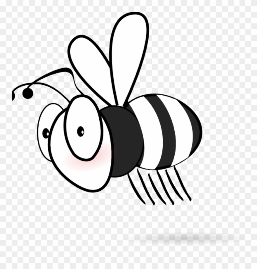 Cartoon honey bee clipart black and white svg black and white stock Bee Clipart Black And White Clip Art At Clker Vector - Bee Clip Art ... svg black and white stock