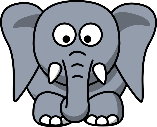 Ears clipartfest elephant clip. Cartoon big ear clipart
