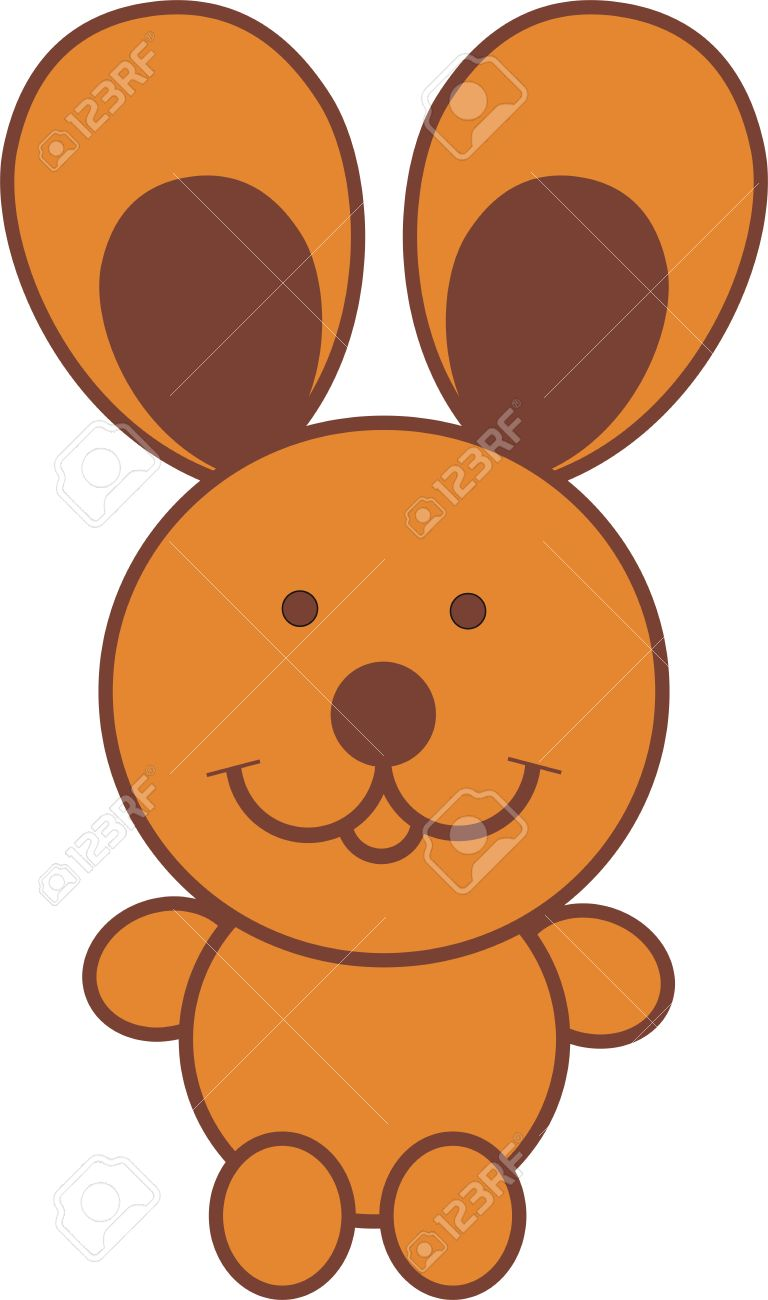 Cartoon big ears clipart royalty free download Llustration Cartoon Of Rabbit With Big Ears Sit Down Royalty Free ... royalty free download