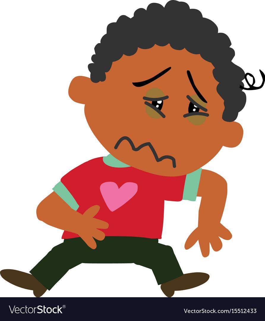 Cartoon black boy clipart png free Cartoon character black boy sick png free