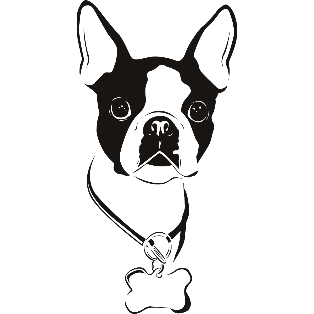 Cartoon boston terrier clipart png library library Free Boston Terrier Cliparts, Download Free Clip Art, Free Clip Art ... png library library