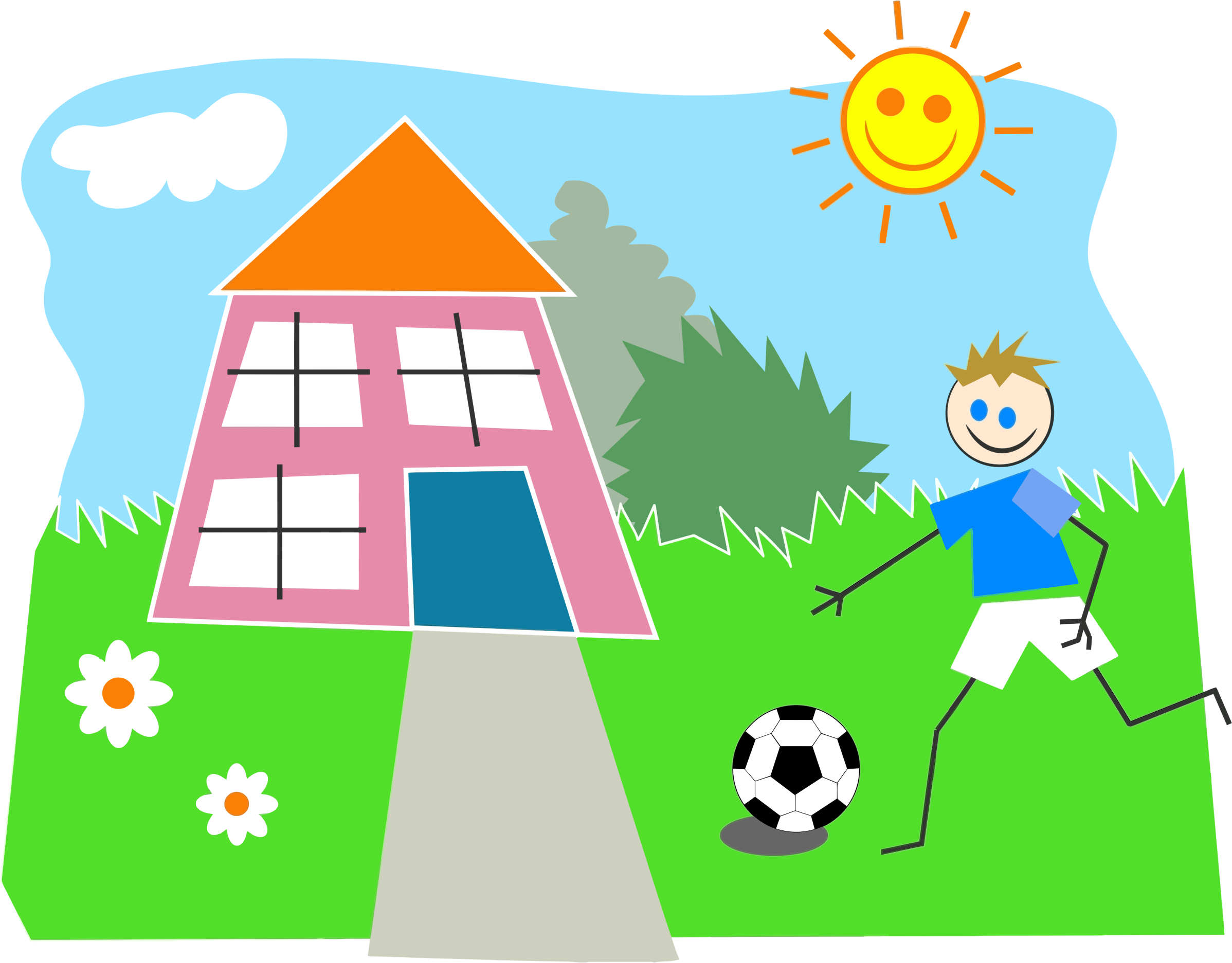 Cartoon boy baseball clipart svg free library Kids Playing Outside Clipart   Free download best Kids Playing ... svg free library