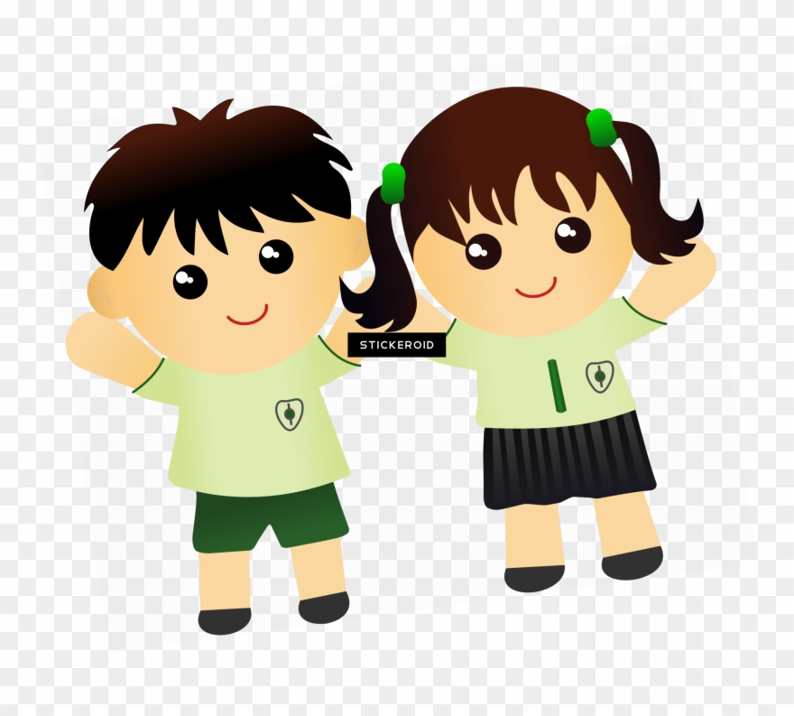 Cartoon boy girl clipart banner library download Cute Kids - Clip Art Boy And Girl - Png Download (#1620858) - PinClipart banner library download