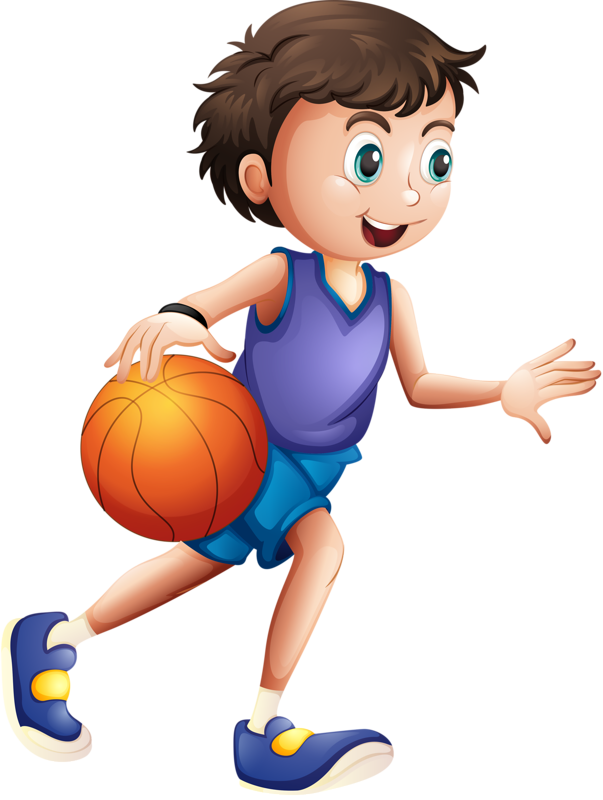 Clipart kid playing basketball vector Яндекс.Фотки | scrapbooking sports | Pinterest | Clip art, Cartoon ... vector