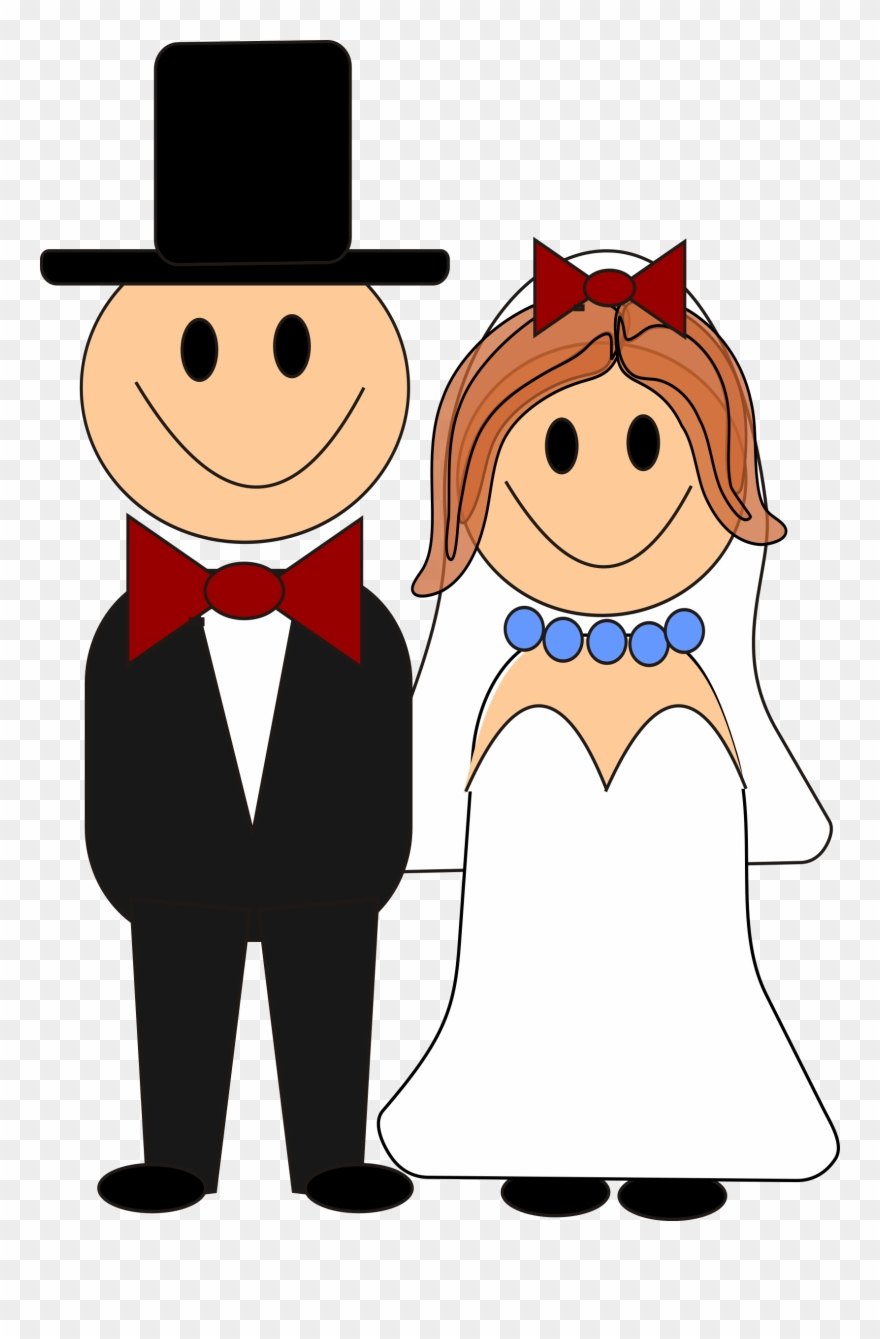 Free cartoon bride and groom clipart image stock Bride And Groom Graphics Free This Cute - Cartoon Bride And Groom ... image stock
