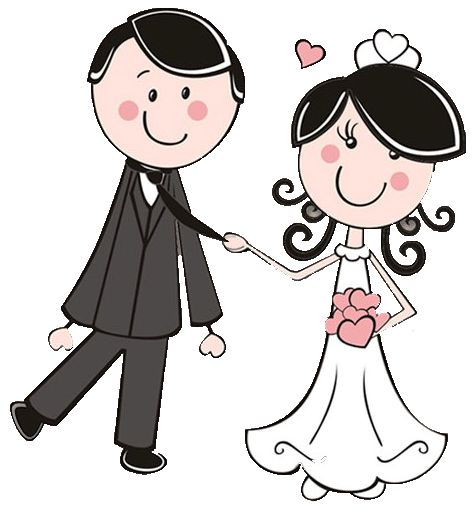 Cartoon bride and groom clipart clip black and white library Bride and groom cartoon bride groom clipart the cliparts ... clip black and white library