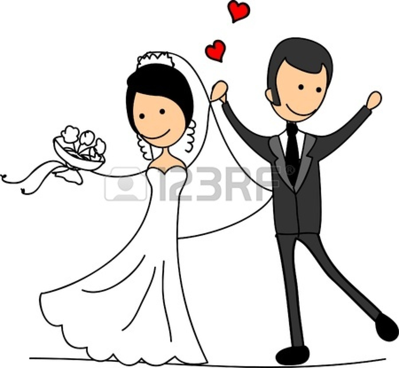 Cartoon bride and groom clipart clipart free library 27+ Bride And Groom Clipart | ClipartLook clipart free library