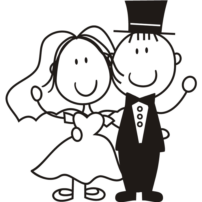 Free cartoon bride and groom clipart graphic free stock Free Cartoon Bride And Groom, Download Free Clip Art, Free Clip Art ... graphic free stock