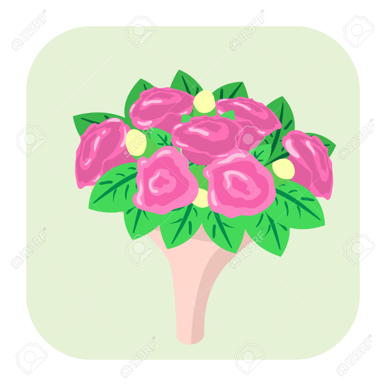 Bouquet Of Flowers Cartoon Icon Isolated On White Background ... jpg download